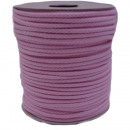 Cordoncino di cotone 5mm - 100m, rosa