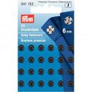 24 boutons à coudre MS 6 mm noir