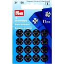 16 sewing buttons MS 11 mm black