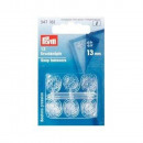 12 pulsanti per cucire KST 13 mm trasparenti