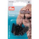 2 fur hook clips black