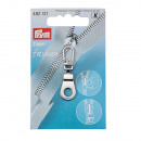 Fashion Zipper eyelet silver