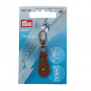 Fashion Zipper cuir marron