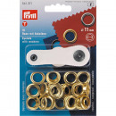 15 eyelets with discs 11mm gold