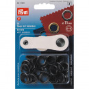 15 eyelets with washers 11mm black