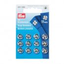 12 naaiknoppen MS 11 mm zilverkleurig