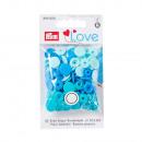 30 colori Snaps 12,4mm blu assortito