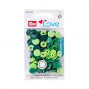 30 colori Scatta assortito verde 12,4mm