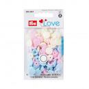30 colori Scatta 12,4mm rosa, azzurro, perla