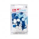 30 colori Scatta 12,4mm blu, azzurro, bianco