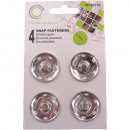 Push buttons metal, silver, Ø 30mm - 4 pieces
