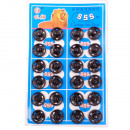 Botones pulsadores de metal, negro, Ø 13 mm - 24 p