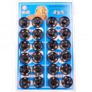 Botones pulsadores de metal, negro, Ø 15 mm - 24 p