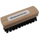 Suede borstel met koperen borstelharen en houten l