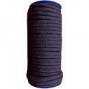 Cordón de algodón de 8 mm a 25 m, negro