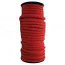 Cordón de algodón de 8 mm a 25 m, rojo