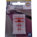 Organ needles twin, 1 double needle 80 / 4.0