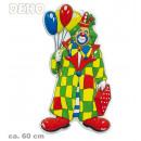 grossiste Articles de fête: clown, Art mur  avec des ballons, 60 cm de hauteur