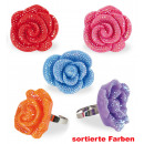 Ring flower,  assorted colors, ring size individue