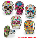 Ring Sugar Skull, assorted designs