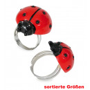 wholesale Toys: Ring Ladybird, assorted sizes