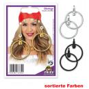 Großhandel Ohrringe: Ohrclips,  sortierte Farben,  (schwarz, silber, ...