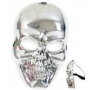 groothandel Figuren & beelden: Half Masker schedel, zilver