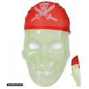 Großhandel Spielwaren: Halbmaske Pirat, nachtleuchtend