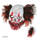 3/4 Maske Horrorclown, Latex