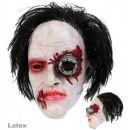wholesale Hair Accessories: 3/4 Mask Horror with hair, latex