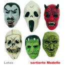modelli assortiti mezze maschere di Halloween in l