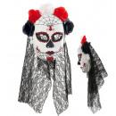 ingrosso Giocattoli: La metà messicano  maschera Totentag, rose black-ro