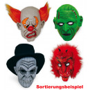 wholesale Toys: Full Face Mask  Halloween, assorted models
