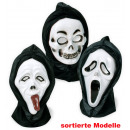 wholesale Toys: Half mask ghost  with hood, assorted models