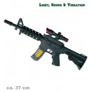 wholesale Outdoor Toys: Machine gun, with  light, sound and vibration, ca.