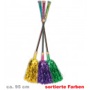 Großhandel Spielwaren: Hexenbesen  Lametta, sortierte Farben, ca. 95 cm Lä