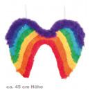 grossiste Bricoler et dessiner: ailes arc en ciel,  garniture plumes + marabou, env