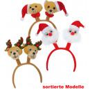 Haarreif Weihnachten, sortierte Motive