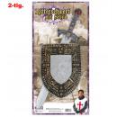 grossiste Articles de fête: Chevalier épée +  bouclier, épée 57 cm de longueur