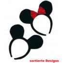 ingrosso Giocattoli: orecchie del mouse  Haarreif, disegni assortiti