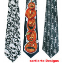 Cravates Halloween, dessins assortis