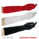 Großhandel Spielwaren: Handschuhe,  Satinoptik,  sortierte Farben, ...