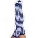wholesale Stockings & Socks: Overknees  extra-long, blue /  white, ca. 63 cm ...