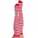 Großhandel Strümpfe & Socken: Overknees  extra-lang,  rot/weiß, ca. 63 ...