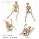 grossiste Farces et attrapes: Deco Squelette, 4  pièces, mouvement partiel, envir
