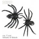 grossiste Cadeaux et papeterie: araignées Deko,  Contenu: 6 pièces, d'environ 7