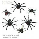 grossiste Farces et attrapes: araignées Deko,  Contenu: 6 pièces, modèles assorti