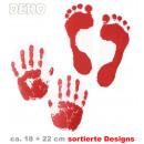 grossiste Bricoler et dessiner: main déco et  empreintes triés: Hand environ 18