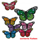 Buttons butterfly, assorted colors