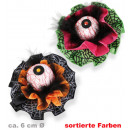 wholesale Hair Accessories: Hairclip eye,  assorted colors, approx. 6 - 7 cm Ø